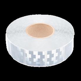 Contourmarkering wit (zilver) - 50x50mm stickers - op rol 12,5 of 50 meter