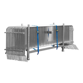 15 stuks dranghek staal 250cm (18kg) - 18 spijlen - inclusief bok en spanbanden