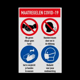 Bord maatregelen en omgangsregels COVID-19 Coronavirus