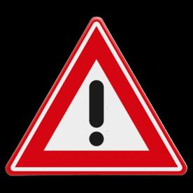 Verkeersbord RVV J37 - Vooraanduiding gevaar