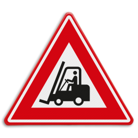 Verkeersbord - waarschuwing heftruck