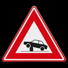 Verkeersbord RVV J39 - Vooraanduiding verkeerspaal