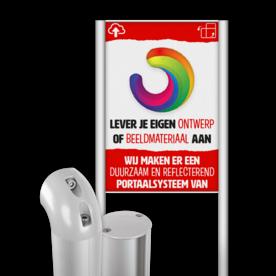 Portaalsysteem TS-R70 met informatiebord (2:3) + eigen ontwerp/beeldmateriaal