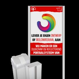 Portaalsysteem TS-50/100 met informatiebord (2:3) + eigen ontwerp/beeldmateriaal
