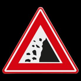 Verkeersbord - waarschuwing vallend gesteente