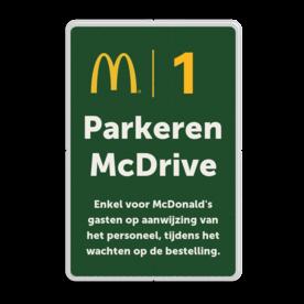 Informatiebord 2-3 McDonald's - wachten op bestelling