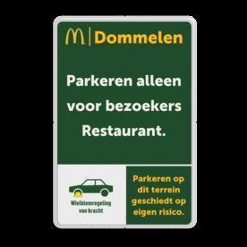 Informatiebord 2-3 McDonald's - Tekstbord + icoon
