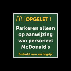 Informatiebord 1-1 McDonald's - Tekstbord