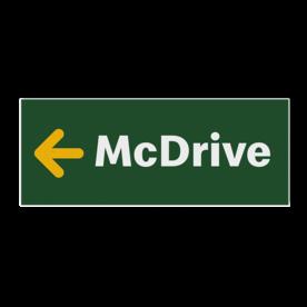 Routebord McDonald's / McDrive - vol reflecterend + pijlrichting