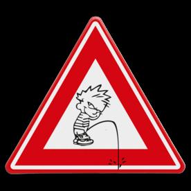 Verkeersbord - waarschuwing Pissig persoon