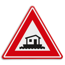 Verkeersbord - waarschuwing woonboot
