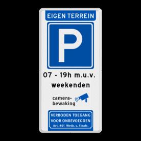 Parkeerbord 400x800mm et-E04-2txt-camera-vt461