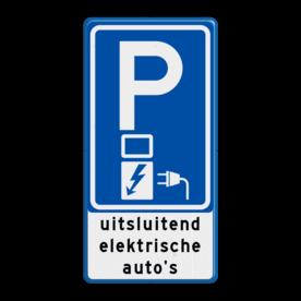 Verkeersbord RVV E08o - oplaadpunt + tekst - BE04c