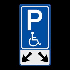 Verkeersbord RVV E06-OB504 Parkeren mindervaliden 2 vakken