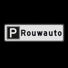 Parkeerplaatsbord Parkeren Rouwauto
