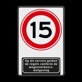 Verkeersbord Snelheid A01-15 met ondertekst
