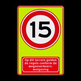 Verkeersbord RVV A01-15f + ondertekst