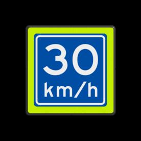 Verkeersbord RVV A04-030f - Adviessnelheid 30 km/h