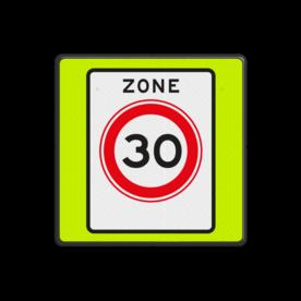 Verkeersbord RVV A01030zbf - Maximum snelheid 30 km/h