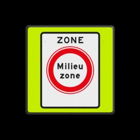 Verkeersbord RVV C22azbf - zone - Gesloten voor vervuilende vrachtauto's