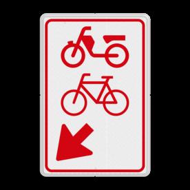 Verkeersbord RVV D108 - (brom-)fietsers van rijbaan wissen