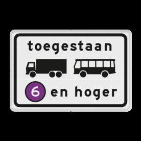 Verkeersbord RVV C22a9 - Onderbord - Milieuzone vrachtauto's en autobussen