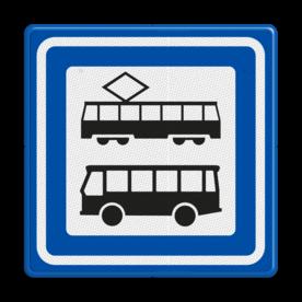 Verkeersbord RVV L03a - Tramhalte-bushalte
