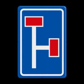 Verkeersbord RVV L09-3r - Doodlopende weg - voorwaarschuwing