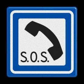 Verkeersbord RVV L16 - Noodtelefoon