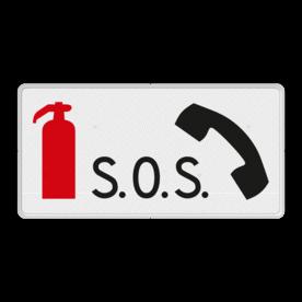 Verkeersbord RVV L18 - Noodtelefoon en brandblusapparaat