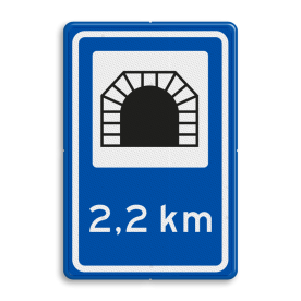 Verkeersbord RVV L13 - Verkeerstunnel