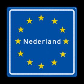 Verkeersbord RVV L403 - Grensbord Nederland