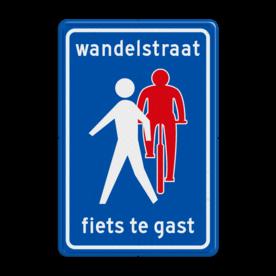Verkeersbord RVV L54b - Wandelstraat