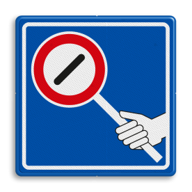 Verkeersbord RVV VR07 R01/F10b - Voetgangers oversteekplaats / zebrapad