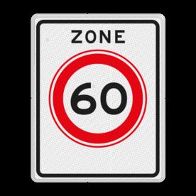 Verkeersbord RVV A01-60zb - Begin zone maximum snelheid