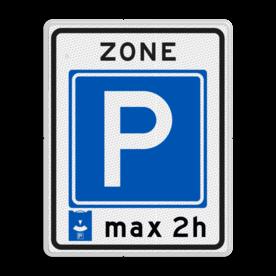 Verkeersbord RVV E10zb  - Parkeerzone parkeerkaart