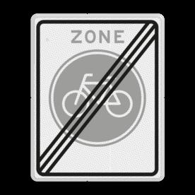 Verkeersbord RVV G11ze - Einde fietszone