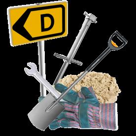 Paal met grondpot in teelaarde (tijdelijk) - openbare weg binnen de kom