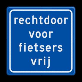 Verkeersbord RVV VR06rd - rechtdoor vrij