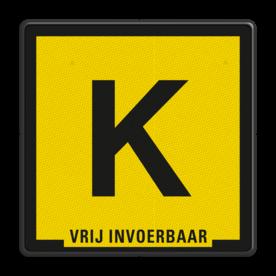Verkeersbord Zinkerbord Kabel zwart/geel + tekst