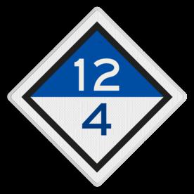 Treinlengtebord - RS 304c - Reflecterend