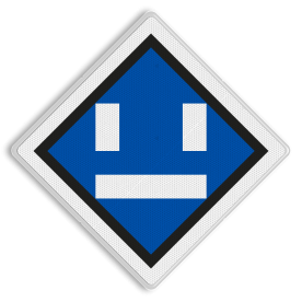 Uitschakelbord - RS 306a - 500x500 Reflecterend