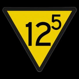 Snelheidsverminderingsbord - RS 313 - 10 of hoger met decimaal - Reflecterend