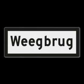 Snelheidsbord Weegbrug - RS 324 - 500x200mm - Reflecterend