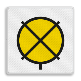 Bord 'Rijden op zicht' - RS 317 - 500x500mm - Reflecterend