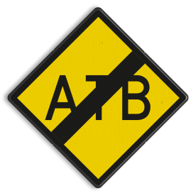 ATB-uitschakelbord - RS 329 - 500x500mm - Reflecterend