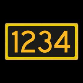 Seinnummerbord- RS - 400x200mm - Reflecterend