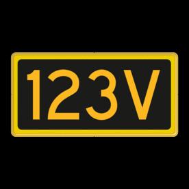 Seinnummerbord voorsein - RS - 400x200mm - Reflecterend