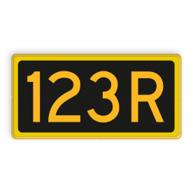 Seinnummerbord herhalingssein - RS - 400x200mm - Reflecterend