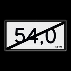 Kilometerbord (einde) Nieuwe stijl - RS - 600x300mm - Reflecterend